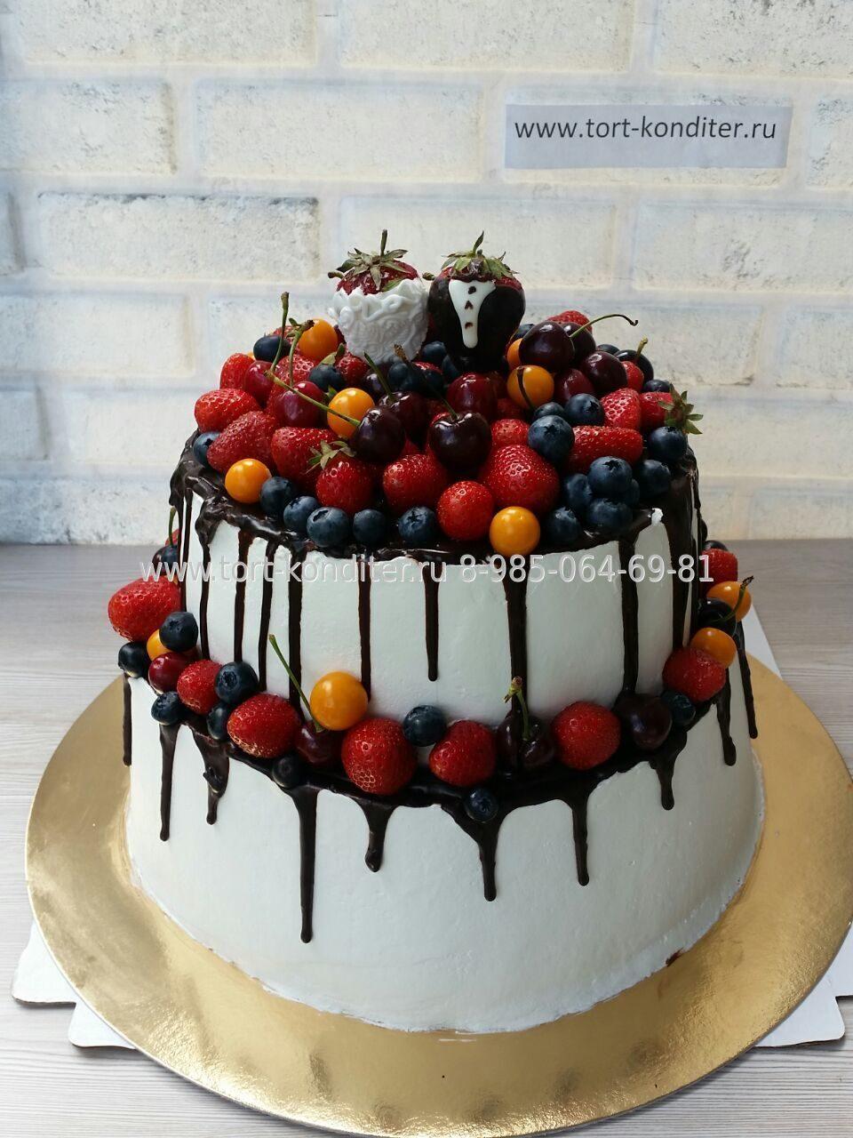 Двухъярусный торт без мастики рецепт
