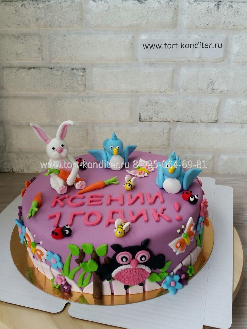 Торт на годовасие девочке